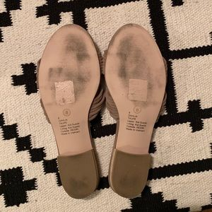 Sole Society Shoes - Sole Society dahlia taupe slide sandals flats